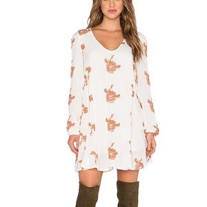 Free People Emmas Embroidered Dress in Ivory Combo
